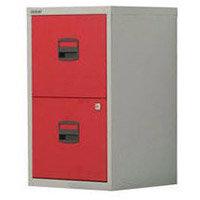 Bisley Pfa Home Filer 2xFiling Drawers Grey & Red