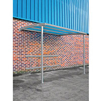 2270x3000x1900 Wall Mounteed Cycle Shelters For 8 Bikes Initial Light Grey
