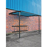 2270x3000x1900 Wall Mounted Cycle Shelter Extension For 8 Bikes Extension Black