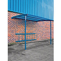 2270x3000x1900 Wall Mounted Cycle Shelter Extension For 8 Bikes Extension Blue