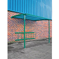 2270x3000x1900 Wall Mounted Cycle Shelter Extension For 8 Bikes Extension Green