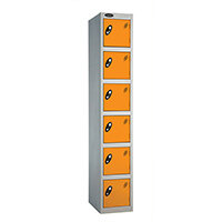 6 Door Locker D:305mm Silver Body & Orange Door