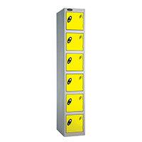6 Door Locker D:305mm Silver Body & Lemon Door