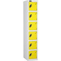 6 Door Locker D:305mm White Body & Lemon Door