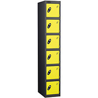 Black Body Locker 12x18 6 Lemon Doors