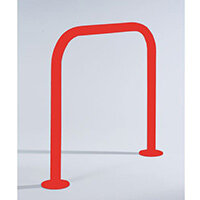 2M Stratford Cycle Shelter Galv + Coated Red3020 Main Bay
