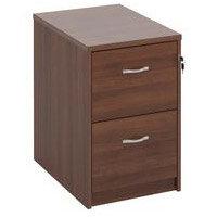 Filing Cabinet 2 Drawer Walnut Classic Furniture