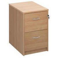 Deluxe Executive 2 Drawer Filing Cabinet In Beech Anti Tilt Fully Locking Supplied With Handles Accepts Foolscap Onl