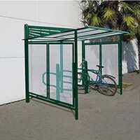 Convivale Cycle Shelter Moss Green Ral6005
