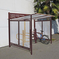 Convivale Cycle Shelter Brown Corten Effect