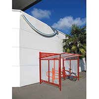 Conviviale Cycle Shelter Extension Traffic Red