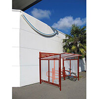Conviviale Cycle Shelter Extension Purple Red