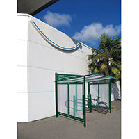 Conviviale Cycle Shelter Extension Moss Green