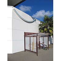 Conviviale Cycle Shelter Extension Brown Corten Effect
