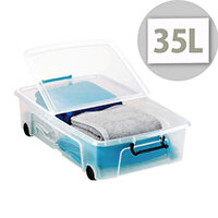 Smart Storemaster Box 35 Litre With Folding Lid And Clip Handles