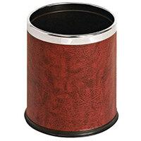 10 Litre Metal Waste Paper Bin Matt Red Finish