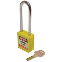 Safety Lockout Padlocks Long Shackle  Yellow (Each)
