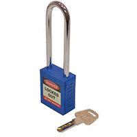 Safety Lockout Padlocks Long Shackle  Blue (Each)