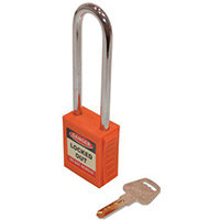 Safety Lockout Padlocks Long Shackle  Orange (Each)