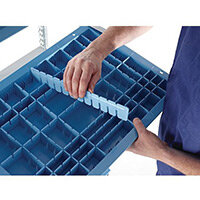 HTM71 Healthcare Storage Basket Divider Only H100xW400xD8mm
