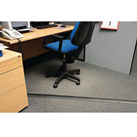 Light Duty Floor Cable Cover Black 60mm Wide 1.8M Length