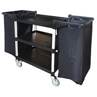 Three Tier Plastic Tray Trolley Open With 2 Frames & Nylon Bag