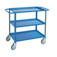 Three Tier Service Trolley With Two Handles & Braked Castors