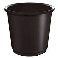 18 Litre Black Plastic Wastebaskets X 4