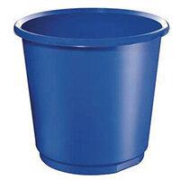 18 Litre Blue Plastic Wastebaskets X 4