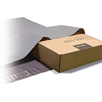 Polythene Grey Mailing Bags 400x525mm With 50mm Flap 50Mu,
