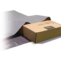 Polythene Grey Mailing Bags 550x750mm With 50mm Flap 50Mu,