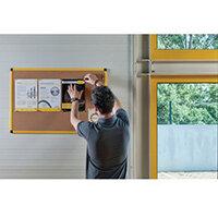 Yellow Maya Frame Cork Noticeboard 1200X900