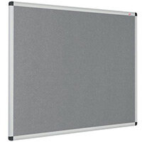 Eco-Colour Aluminium Framed Resist-A-Flame Board 600x900mm Grey