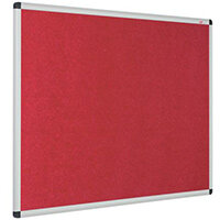 Eco-Colour Aluminium Framed Resist-A-Flame Board 900x1200mm Red