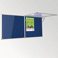 Eco-Colour Corridor Resist-A-Flame Tamperproof Board 1200x1800mm Blue