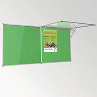 Eco-Colour Corridor Resist-A-Flame Tamperproof Board 1200x1800mm Apple Green