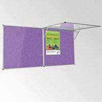 Eco-Colour Corridor Resist-A-Flame Tamperproof Board 1200x1800mm Purple