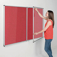 Eco-Colour Red Tamperproof Resist-A-Flame Board Size HxW: 1200x1800mm
