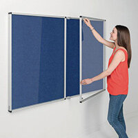 Eco-Colour Blue Tamperproof Resist-A-Flame Board Size HxW: 1200x2400mm