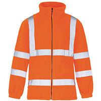 Hi Vis Micro Fleece Jacket Small Orange