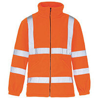 Hi Vis Micro Fleece Jacket Medium Orange
