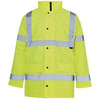 Hi Vis Parka Jacket Small Yellow