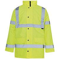 Hi Vis Parka Jacket Medium Yellow