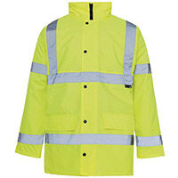 Hi Vis Parka Jacket Large Yellow