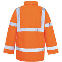 Hi Vis Parka Jacket Medium Orange