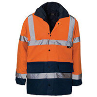 Hi Vis Parka Jacket Medium Orange & Blue