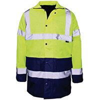 Hi Vis Parka Jacket Medium Yellow & Blue
