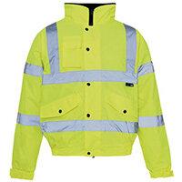 Hi Vis Bomber Jacket Yellow Medium