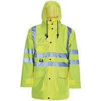 Hi Vis 5 In 1 Parka Jacket -Medium