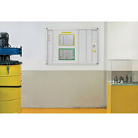 Horizontal Sliding System W900xH1200mm (Each Board) Lacquered Steel Surface